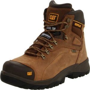 best work boots for standing all day Caterpillar Diagnostic Waterproof Steel-Toe Work Boots