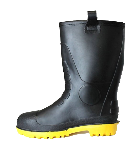best insulated rubber boots LM Mens Waterproof Fur Interior Rubber Sole Winter Snow Rain Boots Insulated