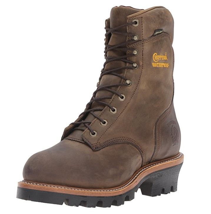 best logger boots The Most Protective Logger Boots: Chippewa Men's Waterproof Steel-toe Super Logger Boot.
