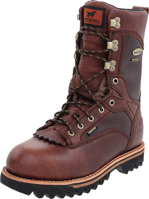 "Warmest Hunting Boots for Cold Weathers #4 Irish Setter 882 Elk Tracker Waterproof 600 Gram 12"" Big Game Hunting Boots"