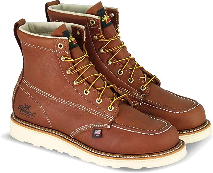 "Best Thorogood Boots Reviews 1) Thorogood American Heritage 6"" Moc Toe, MAXwear Wedge Boots"