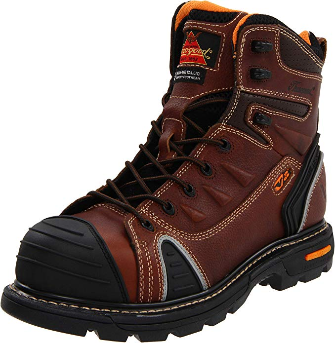 "Best Thorogood Boots Reviews 3) Thorogood GEN-flex2 Series - 6"" Cap Toe, Composite Safety Toe Boots"