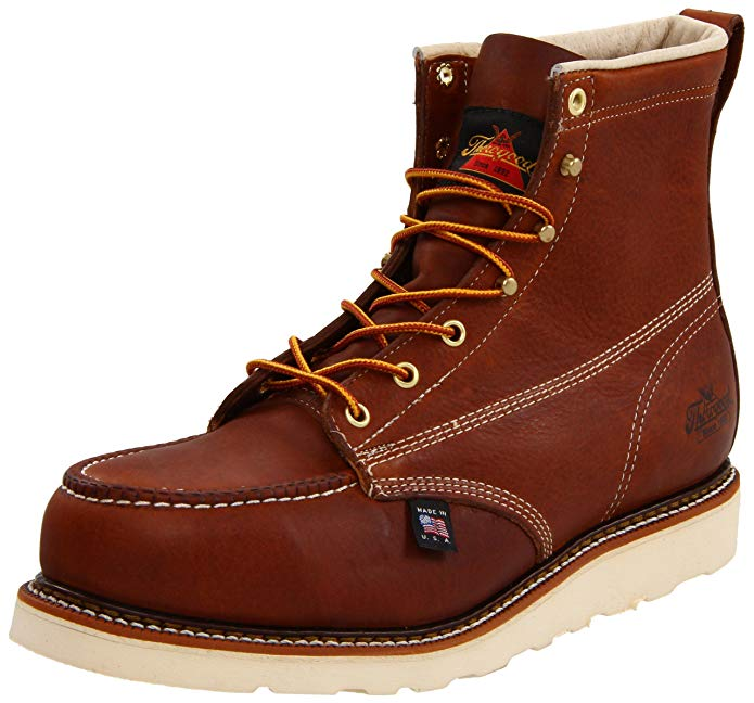 Best Thorogood Boots Reviews 5) Thorogood American Heritage Moc Toe, MAXwear Wedge Safety Toe Boots