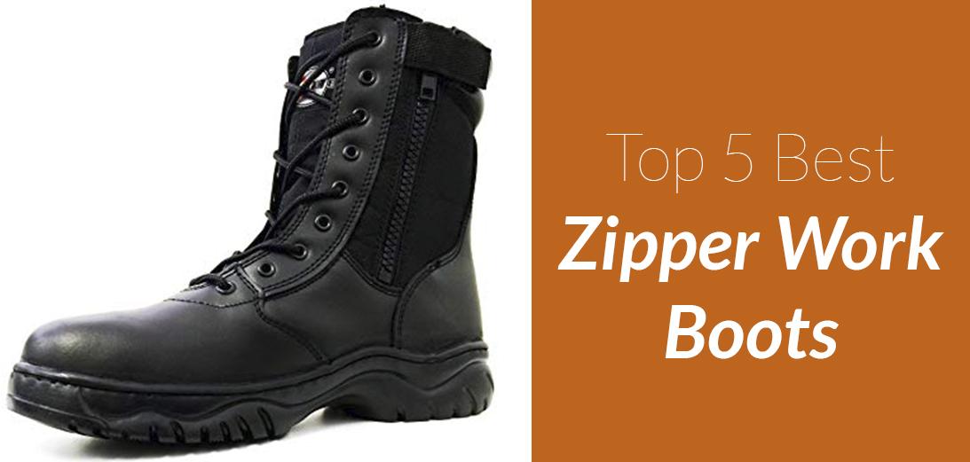 The Best Zipper Work Boots [Updated