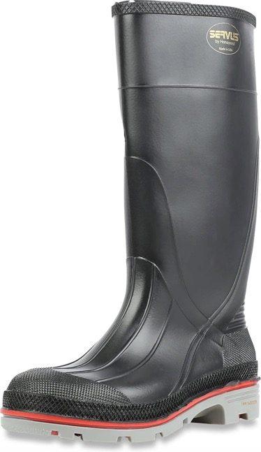 "Best Work Boots For Chemicals 1. Servus XTP 15"" PVC Chemical-Resistant Soft Toe Men"