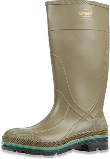 "Best Work Boots For Chemicals 6. Servus MAX 15"" PVC Chemical-Resistant Soft Toe Men"